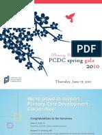 2010 PCDC Annual Spring Gala - Dinner Journal