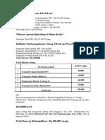 Rincian Pengeluaran Tek Tek an 3PATI Sabang 8 Juli 2011