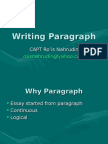 Writing Paragraph
