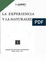Dewey-Experiencia y Naturaleza