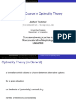 A Crash Course in Optimality Theory