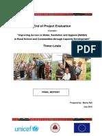 EU UNICEF WASH Project Evaluation Final Report
