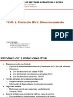 Tema 1- Protocolo IPv6