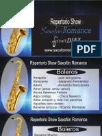 Repertorio Show Saxofonromance