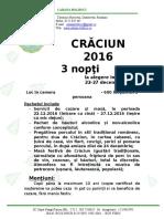 Oferta Bolboci Craciun 2016