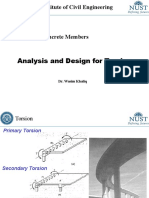 Analysis and Design for Torsion
