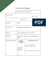 skill 2 lesson plan 11-9