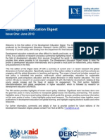 Development Education Digest June 2010