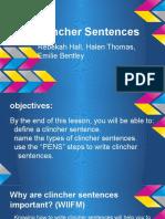 clincher sentences