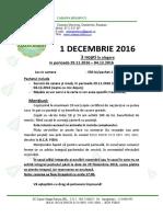 Oferta Bolboci 1 Decembrie 2016