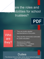 the roles of school trustees