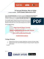Voltage and Current Division, Star to Delta Conversion - GATE Study Material in PDF