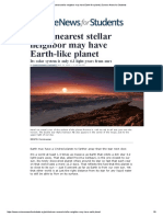 Sun's Nearest Stellar Neighbor May Have Earth-like Planet _ Science News for Students