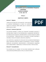 Norma Sanitaria Para Las Actividades Pesqueras y Acuicolas