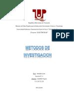 Trabajo Sobre Los Metodos de Investigación de Proyecto