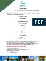 Job Advertisement - CRM 2.1