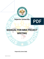 Guidelines for Mba Final Project 2016 1