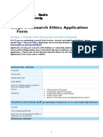 Stage 1 Research Ethics Application Form 2016 Copy