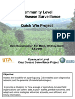 Aagw2010 June 08 Hein Bouwmeester Community Level Crop Disease Surveillance