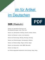 Regeln Für Artikel Im Deutschen