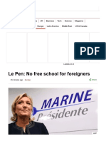 Le Pen_ No Free School for Foreigners - BBC News