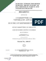 HOUSE HEARING, 109TH CONGRESS - POST TRAUMATIC STRESS DISORDER (PTSD) AND TRAUMATIC BRAIN INJURY (TBI)
