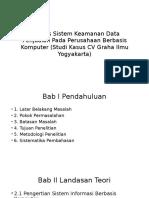 Analisis Sistem Keaman Data Penjualan Pada Perusahaan Berbasis