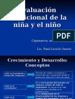 Evaluación Nutricional de La Niña y El Niño