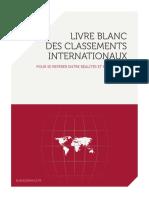 Livre Blanc Des Classemenst Internationaux 2016 - AFII