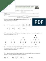 7º ano 3º Teste Matemática (A) Números, Triângulos,Semelhanças -  Profª TM