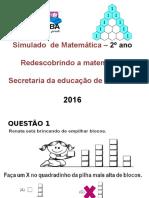 Simulado Matemática 2º Ano Outubro