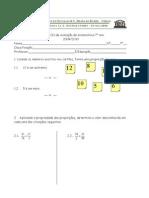 7º ano 5º Teste Matemática ( A e B) Números e Operações, Proporções, Proporcionalidade Directa, Semelhanças, Equações Profª TM