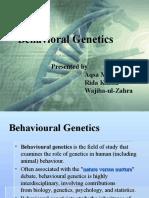 Behavioral Genetics Pres