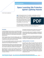 Space Launching Site Protection against Lightning Hazards