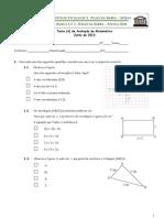 7º ano 6º Teste Matemática (A) Global - Profª TM