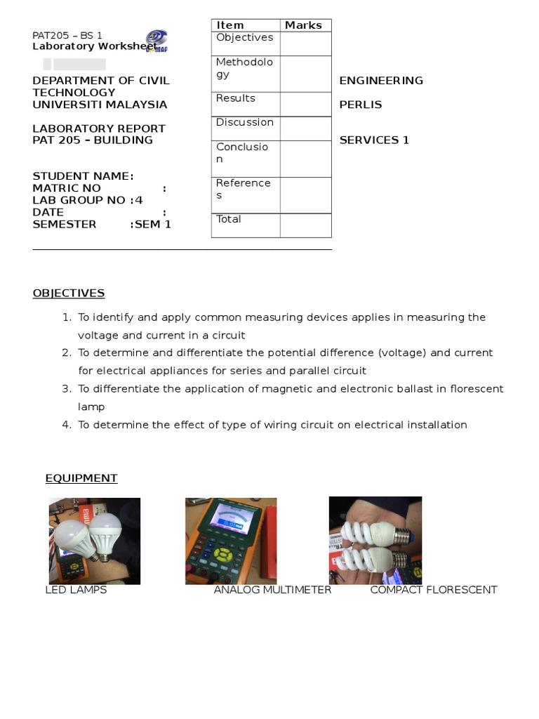 Awe Inspiring Lab Sheet Pat 205 Bs 1 Pump Series And Parallel Circuits Wiring 101 Capemaxxcnl