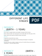 different life stages
