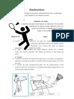 Badminton (trabalho regras)