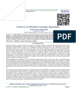 A Survey on Machine Learning Algorithms