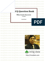 MS Access MCQ Bank