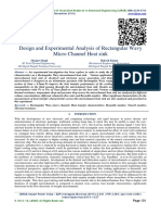Design and Experimental Analysis of Rectangular Wavy Micro Channel Heat sink