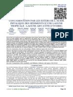 CONTAMINATION PAR LES ESTERS DE L'ACIDE PHTALIQUE DES SÉDIMENTS D'UNE LAGUNE TROPICALE