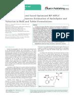 Taj Pahrma Design of Experiment Based Optimized RP-HPLC