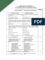 Acta de Especificaciones Tecnicas Camioneta
