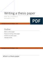 Writing a Thesis Paper RM513