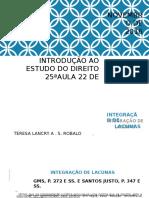 25a aula de IED_Integração de lacunas