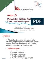 Pertemuan 3 Transformasi Laplece (2013)