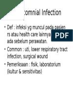 Nosocomnial Infection