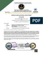 Declaration Letter Surat Pernyataan Immam Mahdi. English Version