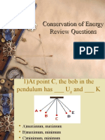 conservation of energy review questions 2014